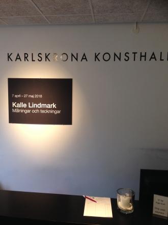 Kalle Lindmark utställning under uppbyggnad våren 2018
